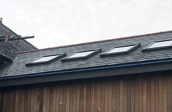 Barn conversion in Langford Barton roof windows