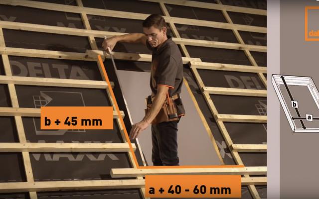 Video of DAKEA roof window installation KUF